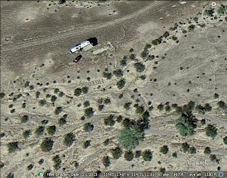 RVer Piled Stones in the Arizona Desert