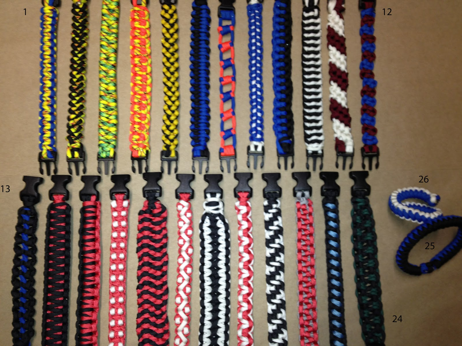 chaotic thinking paracord adventures bracelets