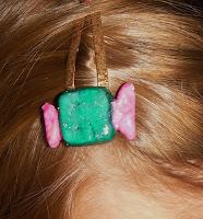 barrette clic clac bonbon pour cheveux en pâte fimo pour fille tout l'univers créatif de mimi vermicelle