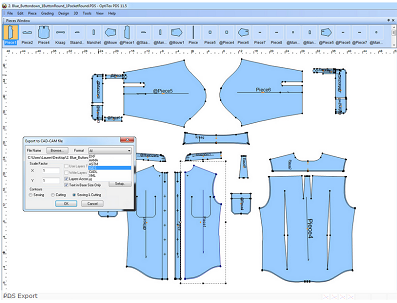 CAD system for apparel industry
