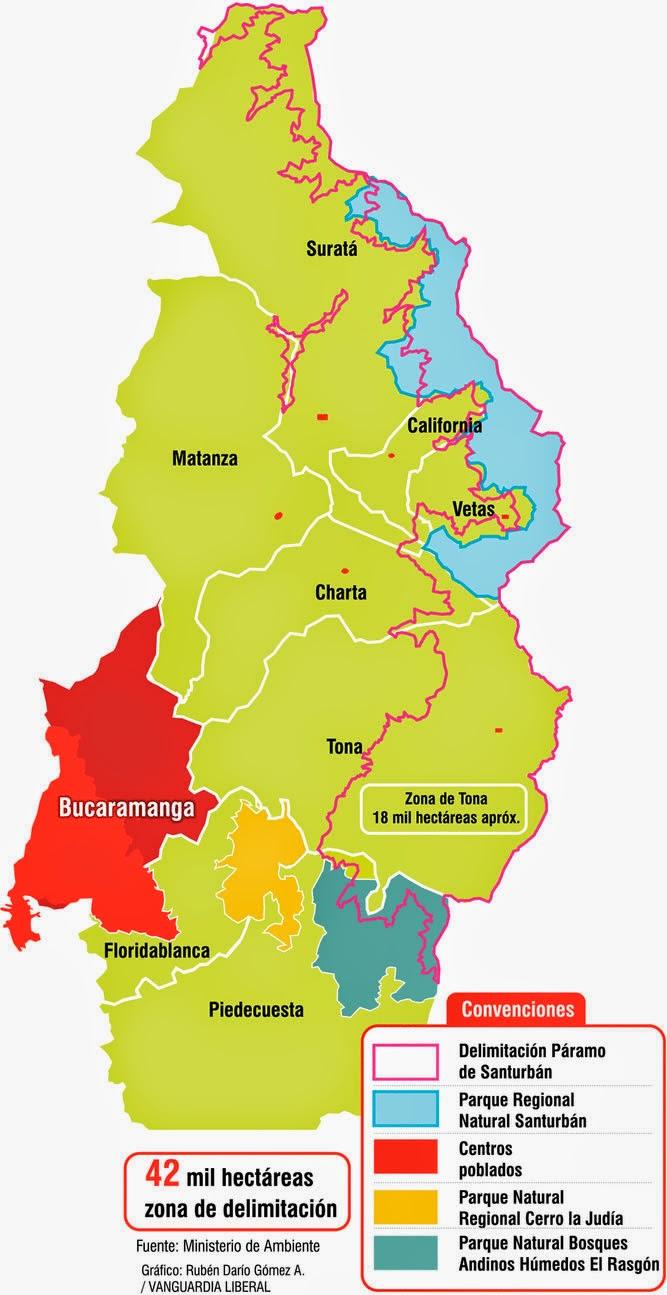 Ministerio de ambiente de colombia anuncia delimitaci n for Ministerio del interior ubicacion mapa