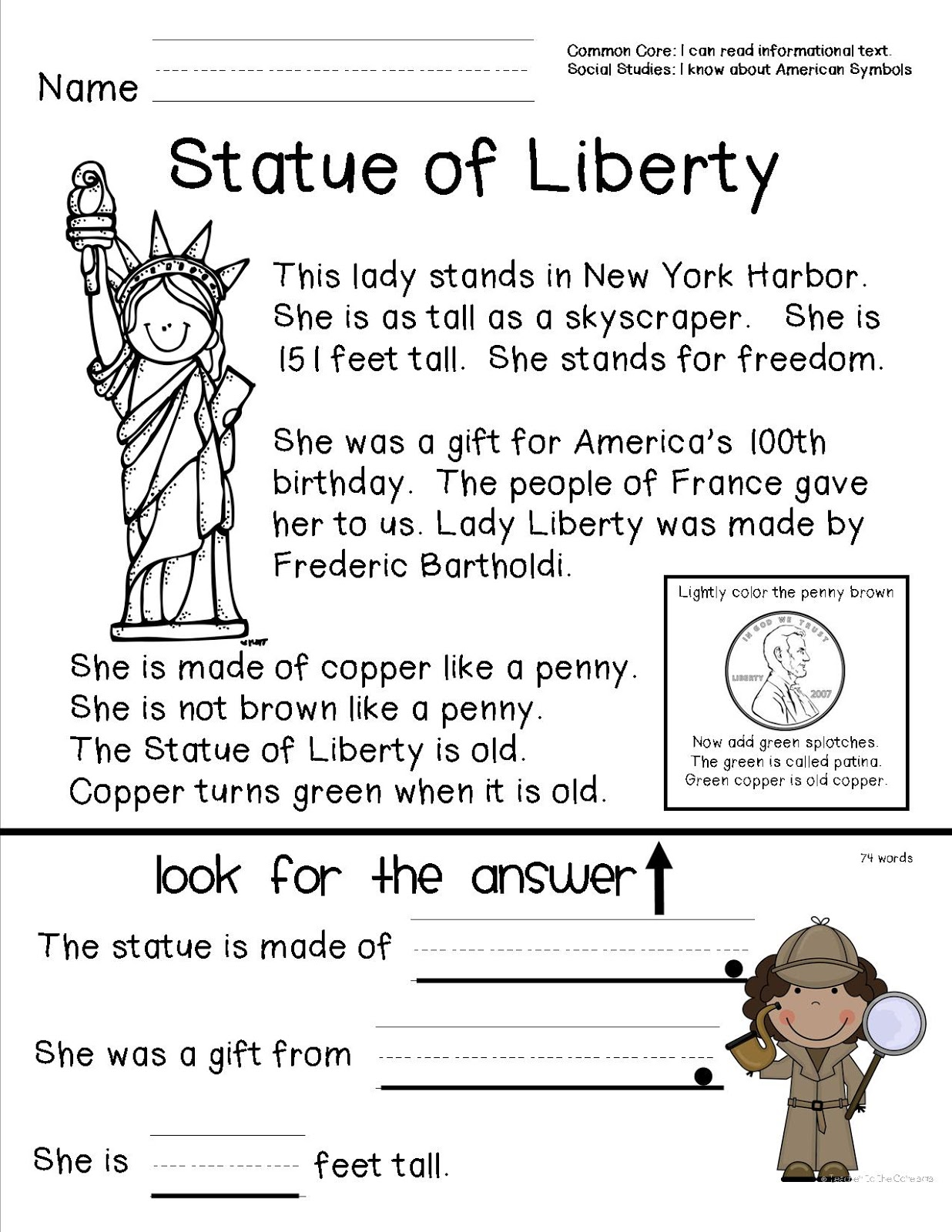 Worksheet Comprehension Activities For 2nd Grade teacher to the core american symbols october 13 2012