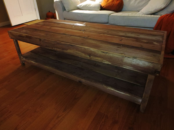 Willow Glen Diy Rustic Coffee Table From Scratch