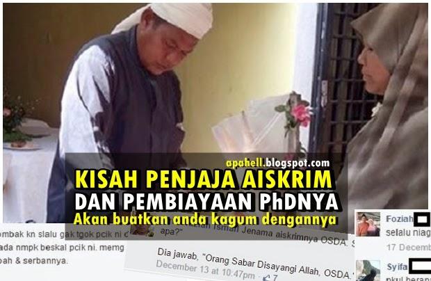 Kisah Pakcik Penjual Aiskrim OSDA dan PhDnya (5 Gambar)
