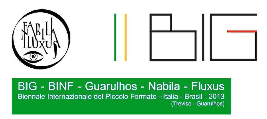 """""""(BIG)(BINF) Guarulhos-NabilaFluxus"""" Biennale Internazionale del Piccolo Formato- Italia 2013"""