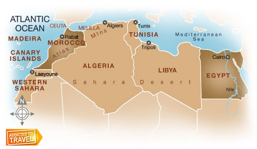 Democratizing the new egypt maps map of north africa gumiabroncs Choice Image