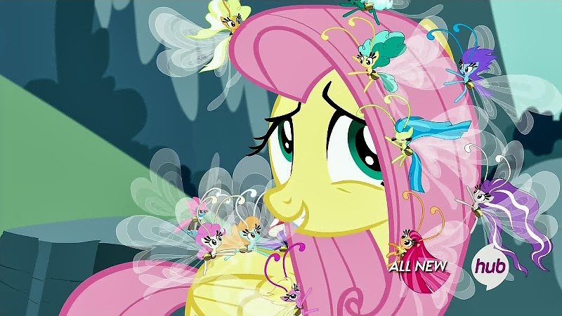 Fluttershy with Breezies in her mane