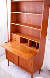 Teak Secretary with pull out desk top