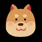 犬の顔のイラスト