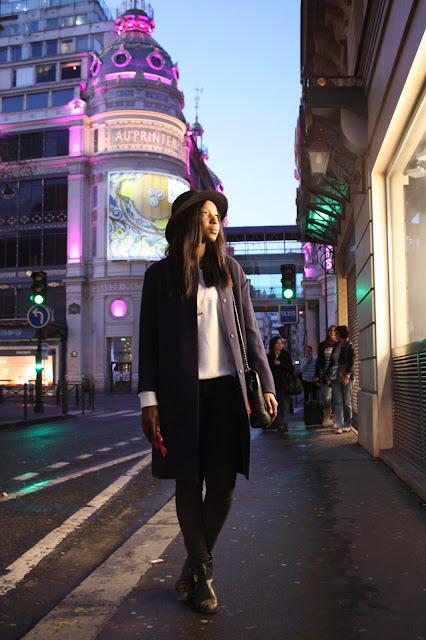 veste HM, 2013, printemps, oversize, oversized, trend, hm trend, manteau, mi saison, bleu, look, blog, mode