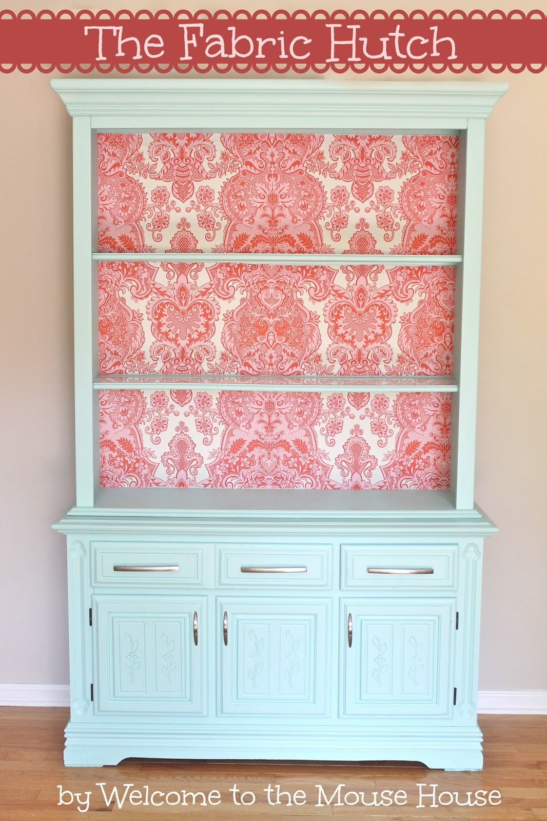 The fabric hutch removable fabric wallpaper for Redo furniture