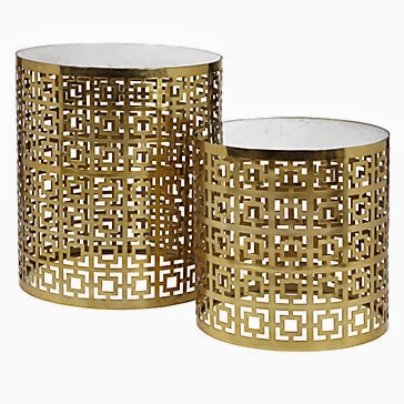 Z GALLERIE PARKING NESTING TABLES