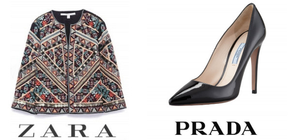 Queen Letizia's ZARA Embroidered Jacket And PRADA Toe Shoes