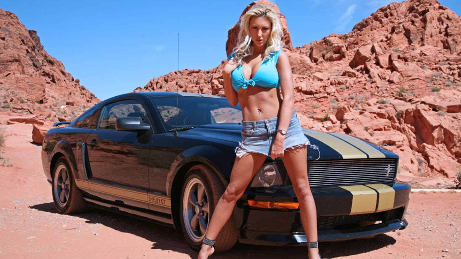 Girls ford car mustang