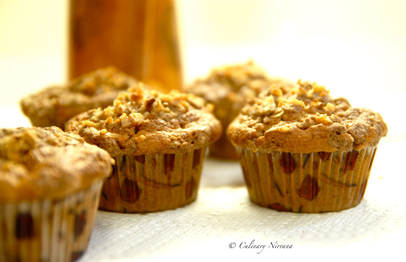 Culinary Nirvana!: Warm spiced banana muffins with Streusel topping!