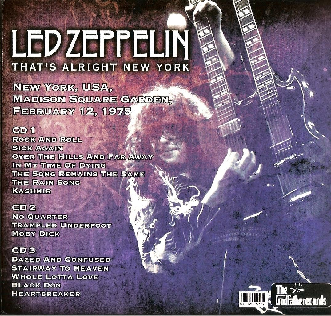 Led Zeppelin Bootlegs Mp3 Led Zeppelin 1975 02 12 Madison Square Garden New York Usa