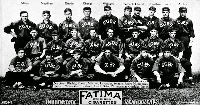 1913 Chicago Nationals Fatima Cigarette trading card