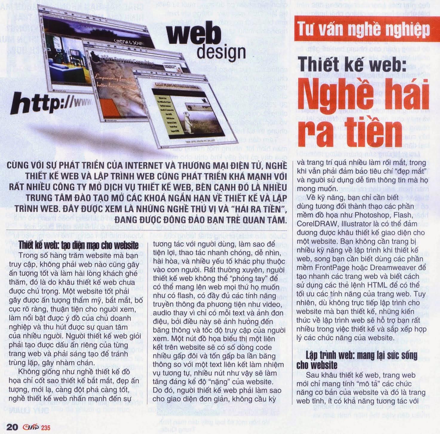 Thiết kế website - Nghề hái ra tiền