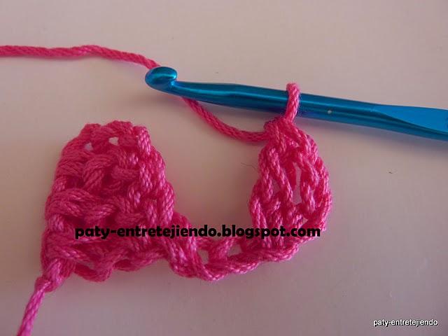 Zona de manualidades punto diagonal paso a paso a crochet - Manualidades a crochet paso a paso ...