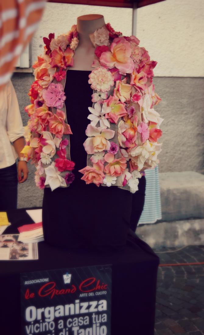 sacile vintage giacca fiori