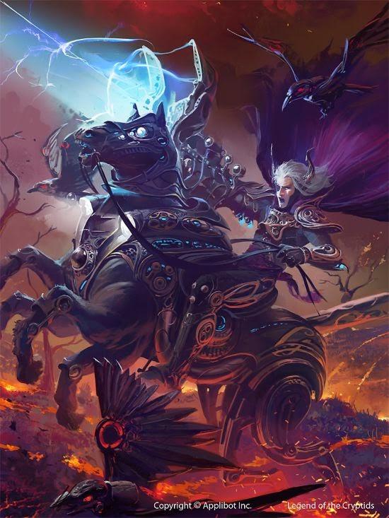 Ignacio Bazán Lazcano neisbeis deviantart ilustrações card games fantasia Odin