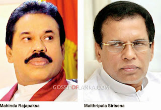 President Maithripala Sirisena and former President Mahinda Rajapaksa meeting on Wednesday at Speaker's house