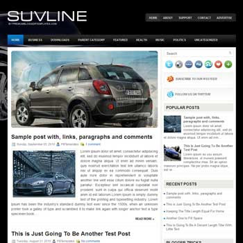 SuvLine blog template. patter background blogger template. magazine style template blogspot. free blogspot template
