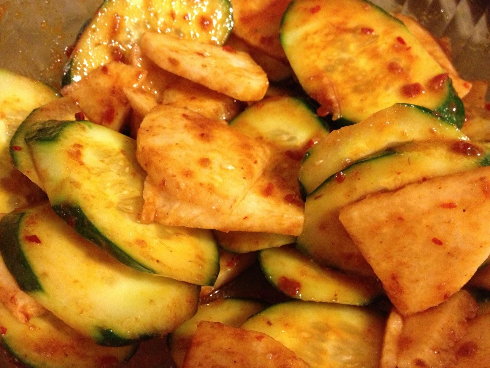 Yin and Yang Shrimp Skewers, Confetti Quinoa, Cucumber ...