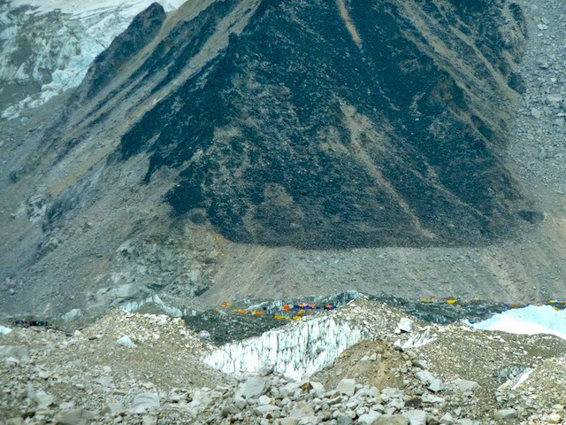 Khumbu Glacier and Everest Base Camp