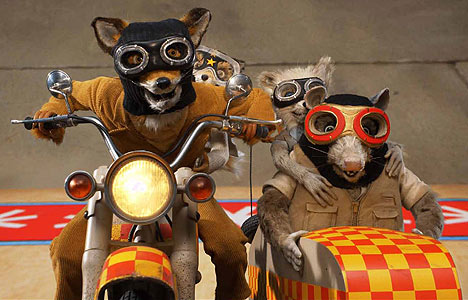 Mr. Fox riding a motorcycle in The Fantastic Mr. Fox animatedfilmreviews.blogspot.com