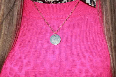gold monogrammed necklace Marley Lilly