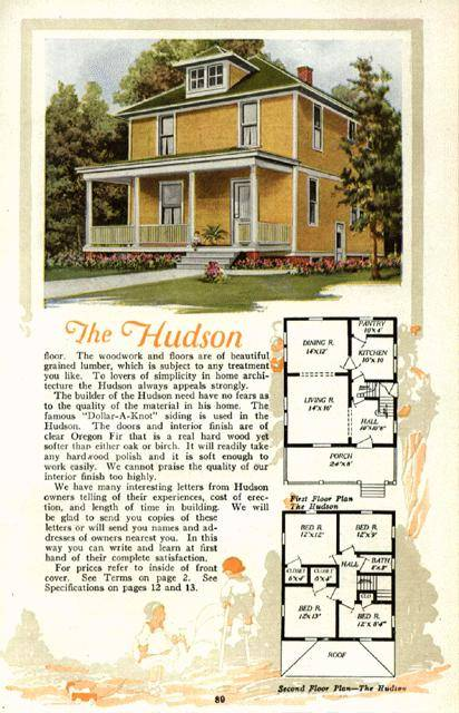 American foursquare floor plans sears the alhambra images for Four square home designs