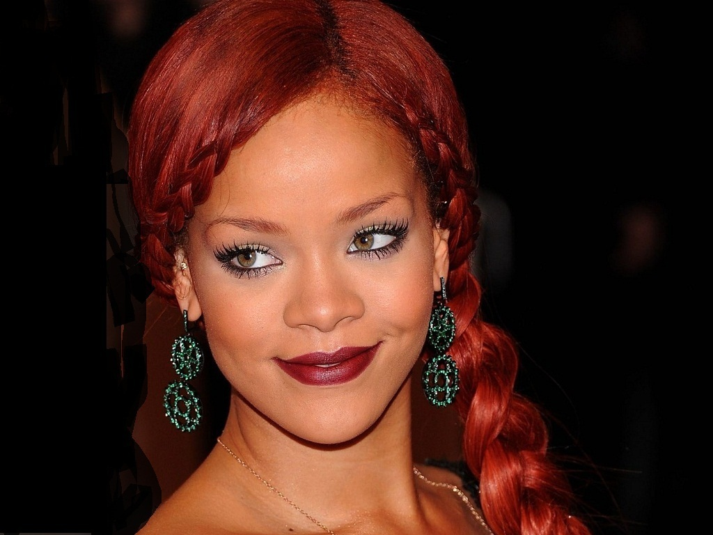 Rihanna Red Hairstyles - Celebrity Rihanna in Red Hairstyle Pictures
