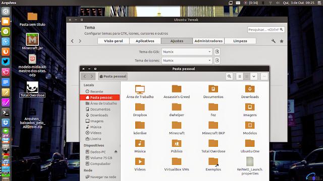 Tema GTK e Icons Numix