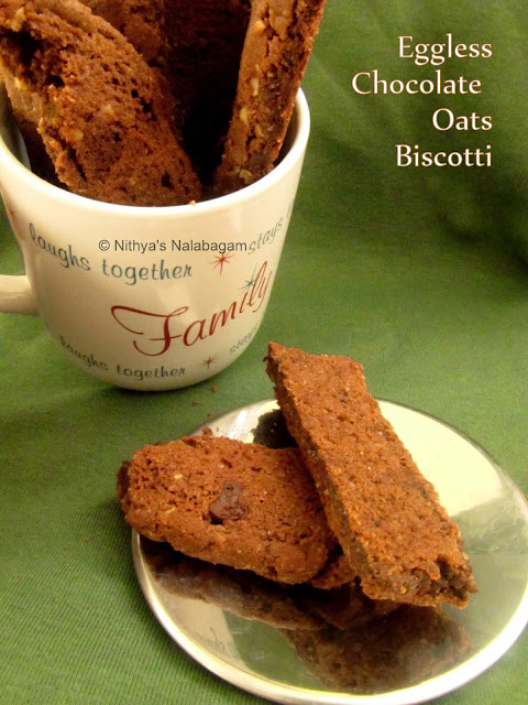 Chocolate Oats Biscotti