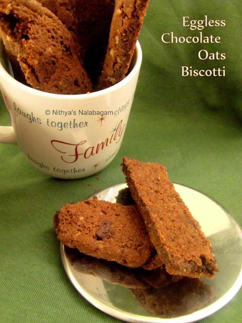 Chocolate Oats Biscotti