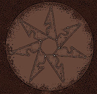 Lisalla's Holy Symbol, seven sided throwing star, Pathfinder