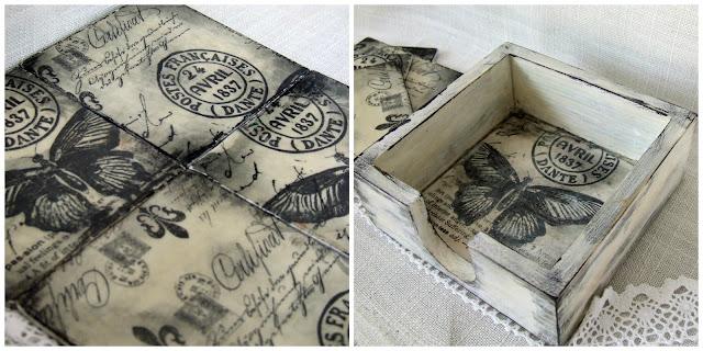 podkładki rustykalne vintage decoupage eco manufaktura