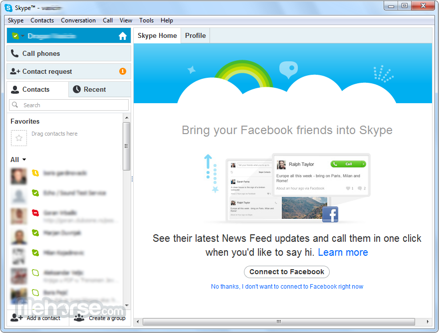 how to get skype of emails