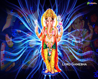 Ganesha hd blue photo