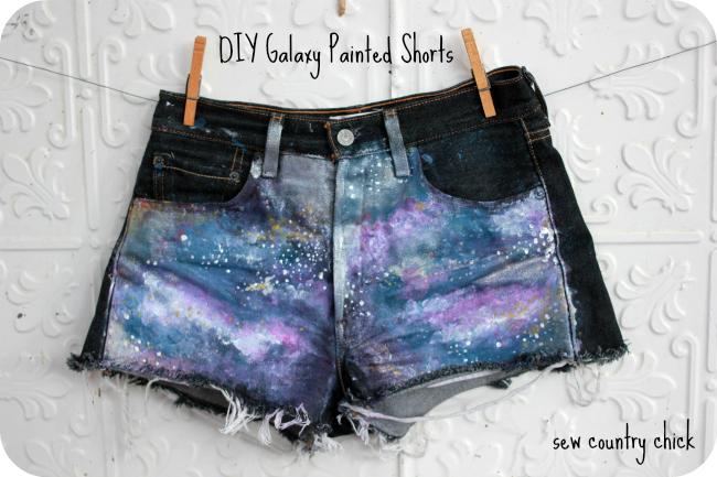 Galaxy Painted Cutoffs Jeans Cutoffs DIY