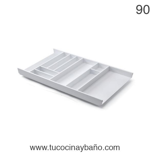 cubertero cajon cocina 90 blanco