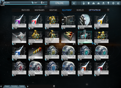 Warframe - Consumables Blueprints