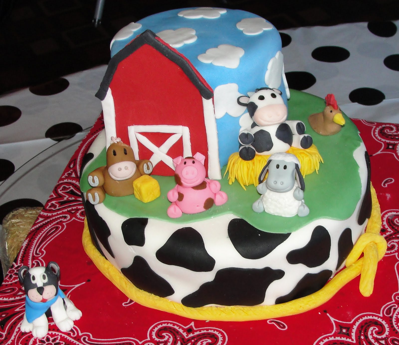 In January, My Neighbor Asked Me To Do Her Daughteru0027s Baby Shower Cake. It  Was Going To Be Farm Animal Theme, So She Knew She Wanted Me To Do It. So I  Did.