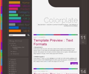 Colorplate Blogger Template