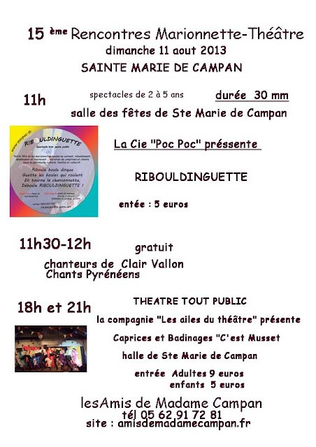 rencontre marionnette - thèâtre 2013 à sainte marie de campan (65)