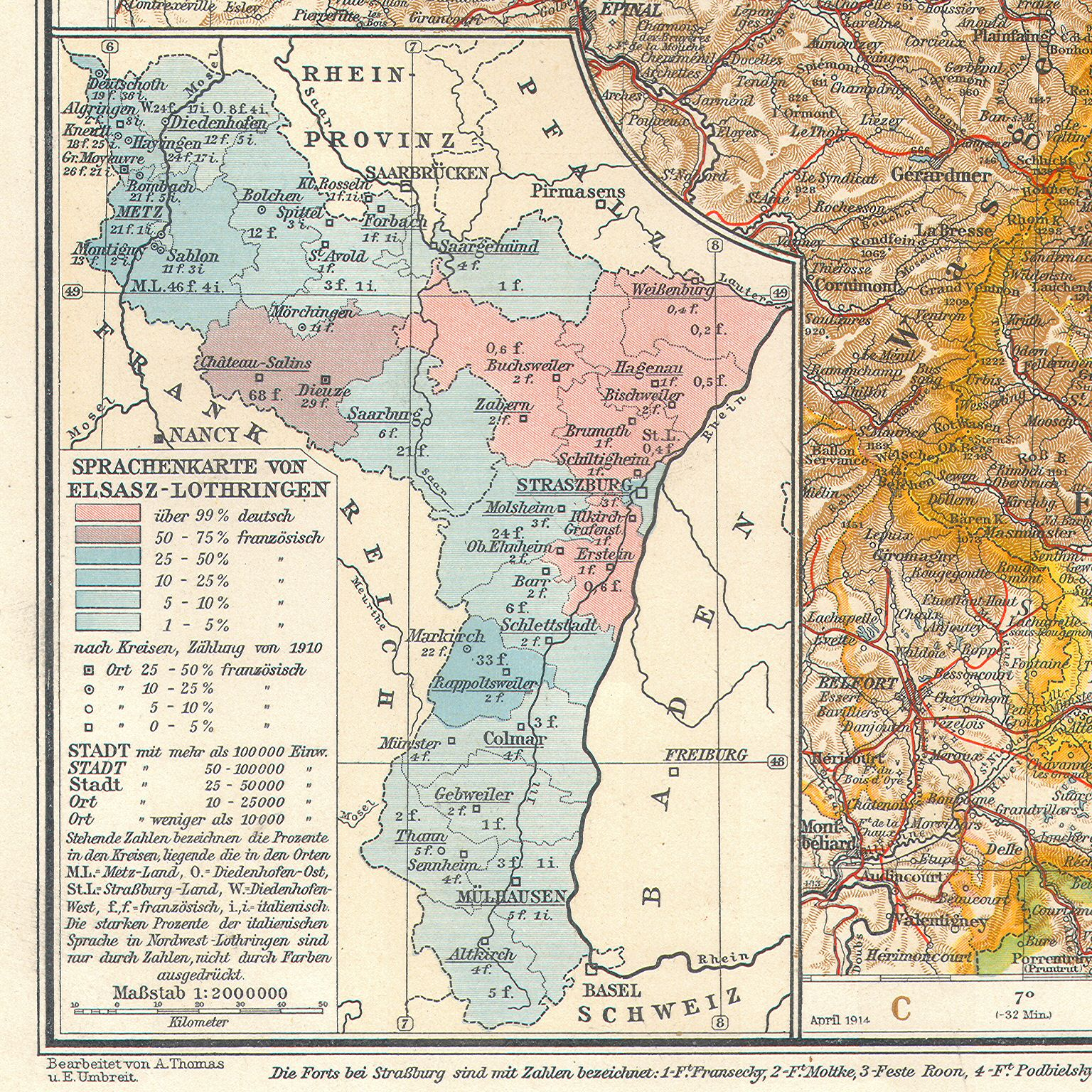 alsace lorraine language map