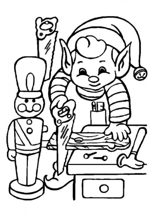 BAÚL DE NAVIDAD: Elfos de Santa Claus para colorear