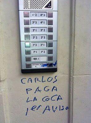 Carlos paga la coca 1 aviso