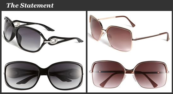 Dior Oversized Sunglasses and Vince Camuto Square Metal Sunglasses